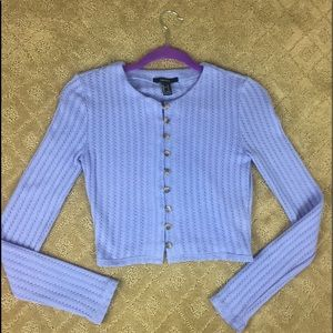 Forever 21 Periwinkle Longsleeve Button Up Top
